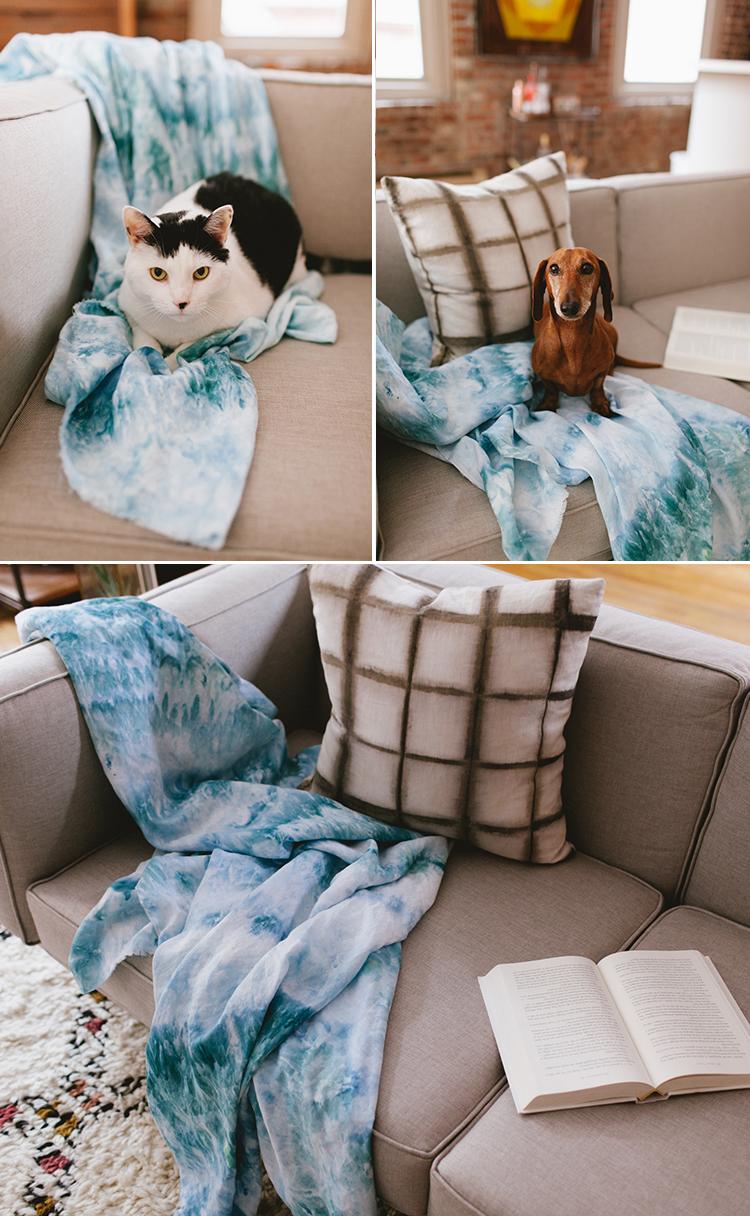 Diy ice tie dye blanket