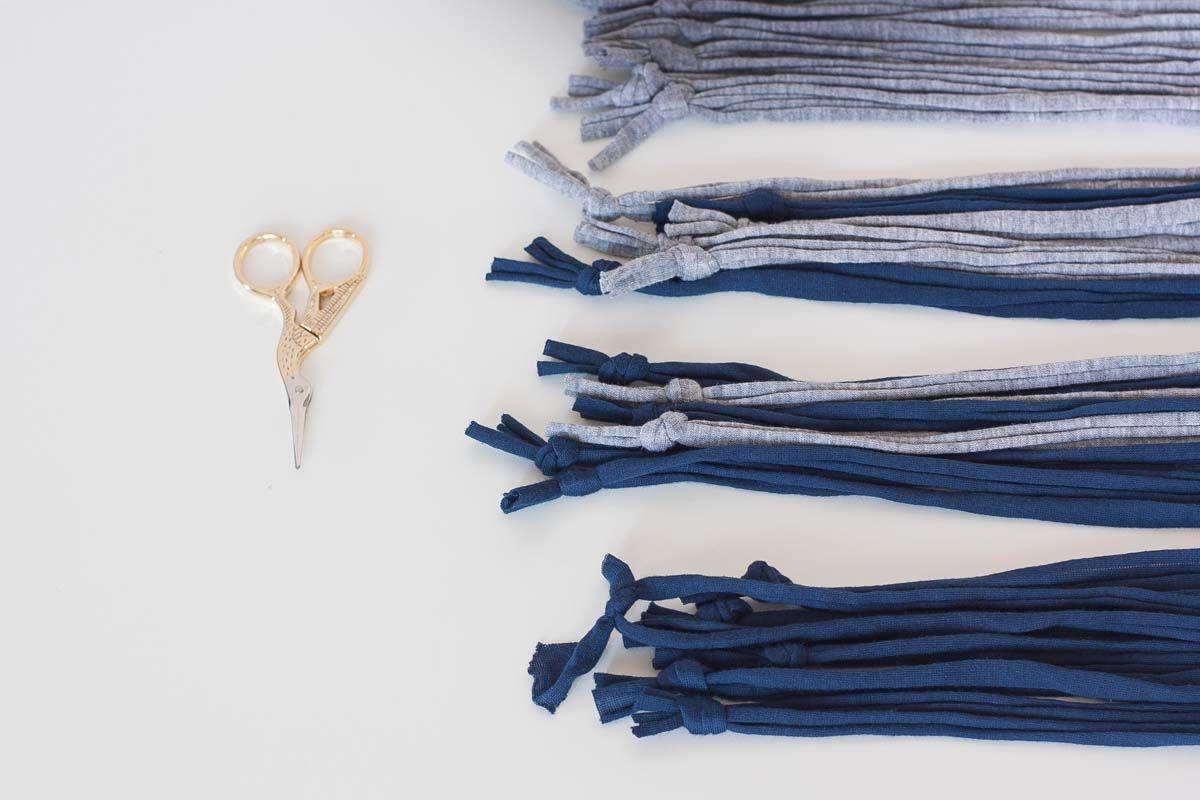 Diy no loom small mat elastic tripes