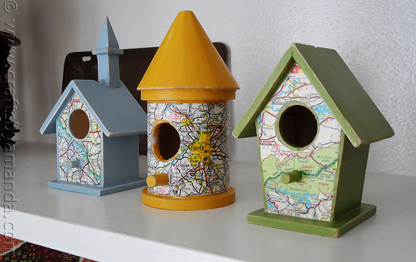 Diy road map birdfeeder