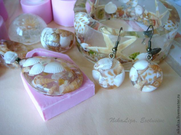 Diy seashell resin jewelry