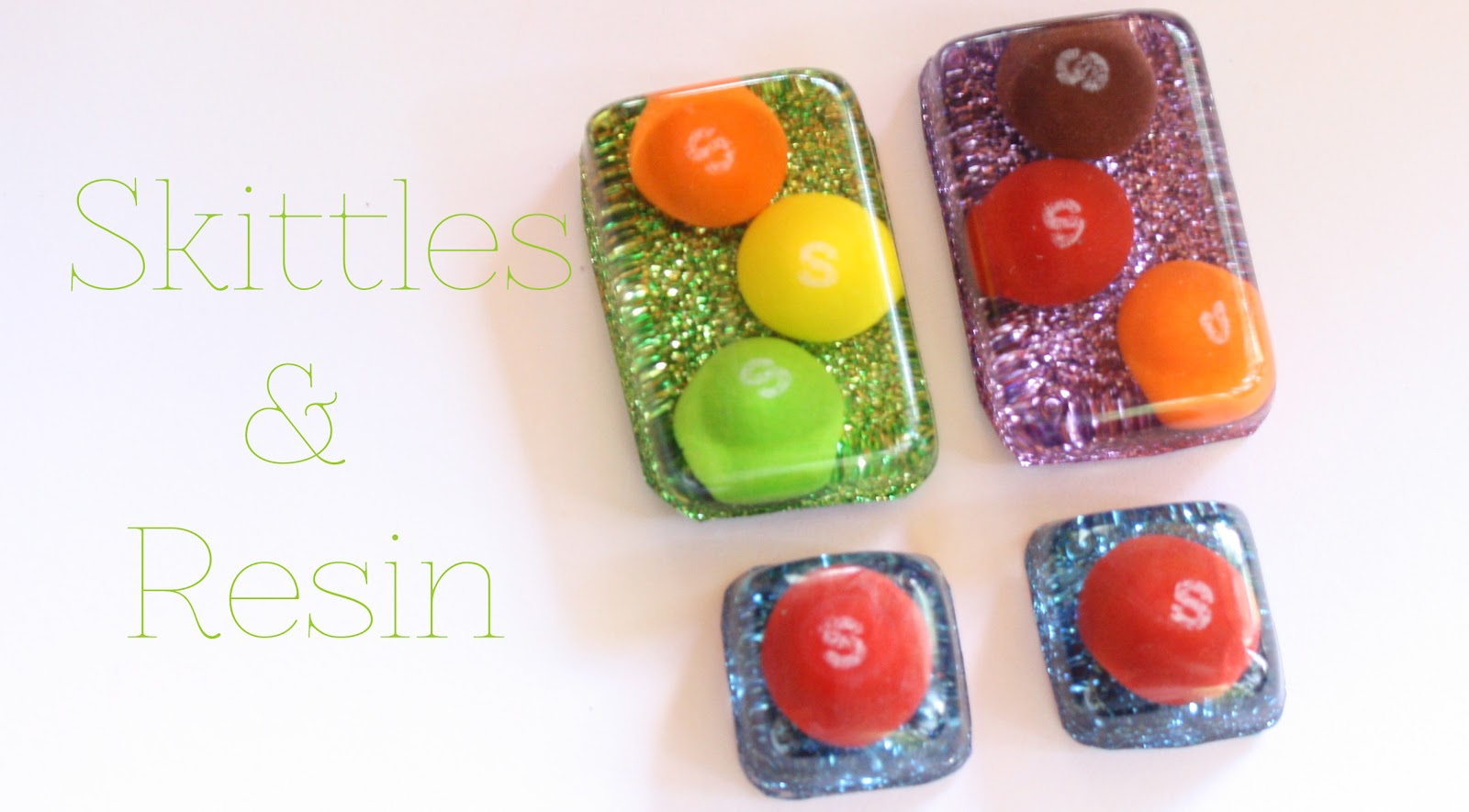 Diy skittles resin jewelry