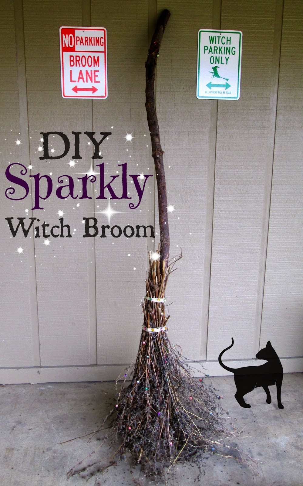 Diy sparkle broom