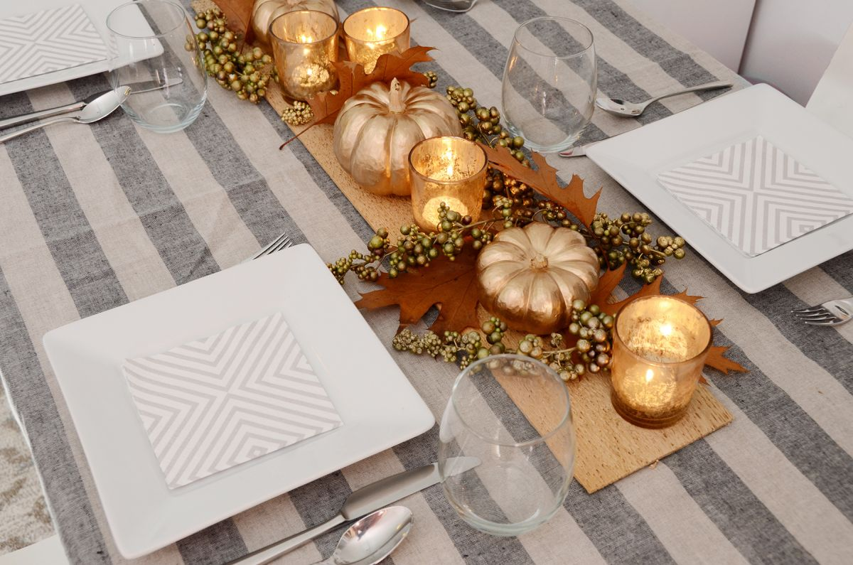 Diy thanksgiving table centerpiece design