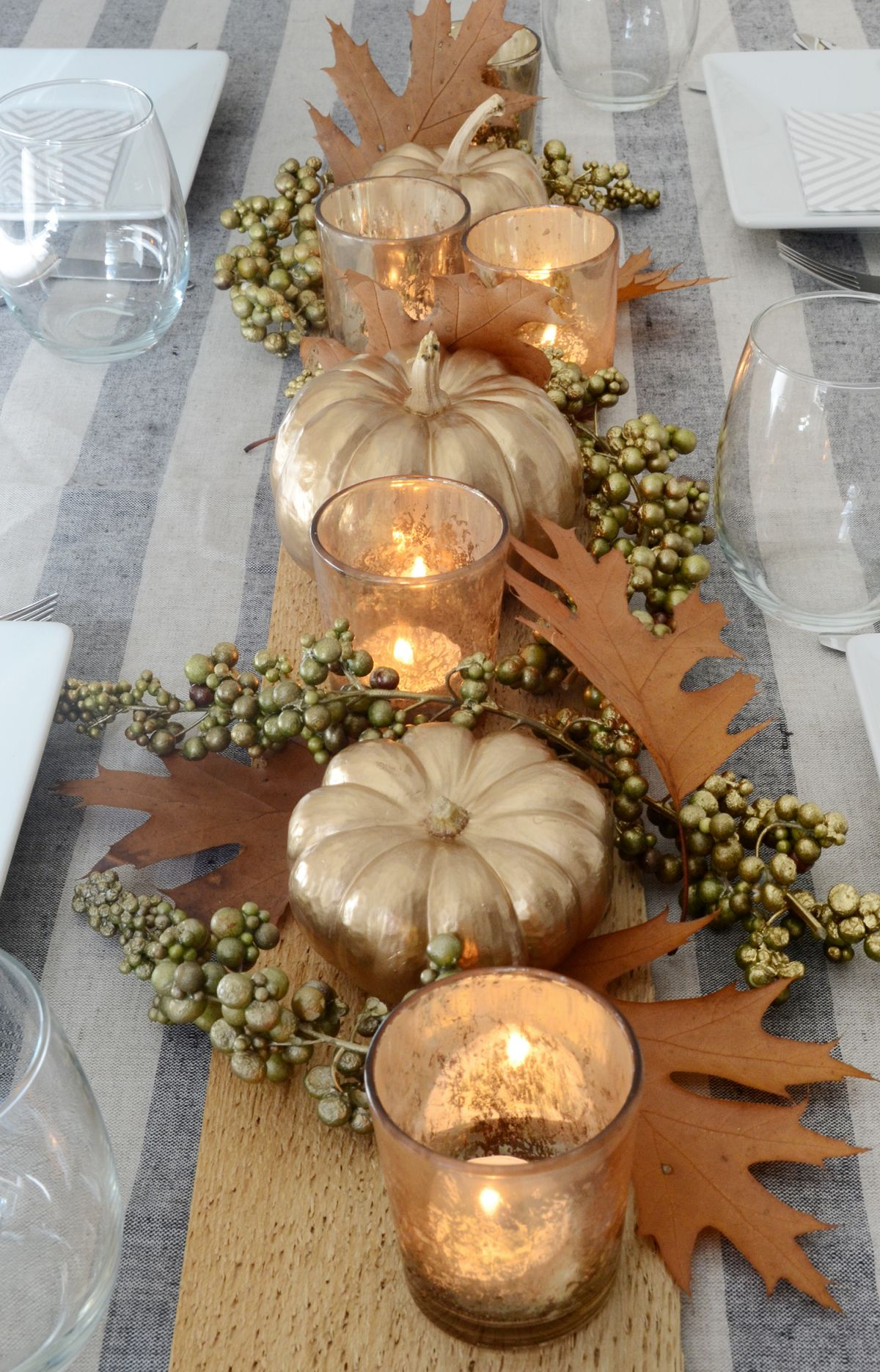 Diy thanksgiving table centerpiece modern