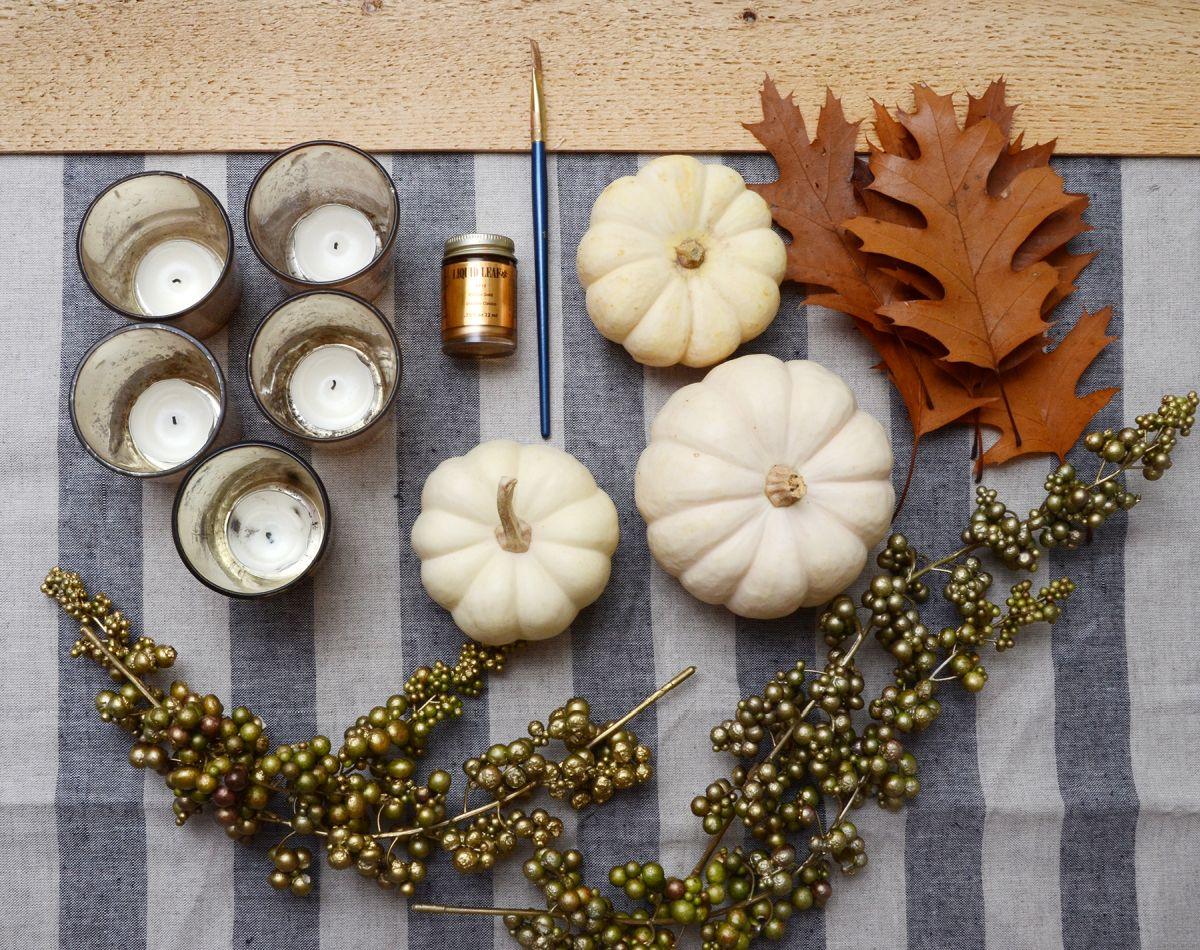 Diy thanksgiving table centerpiece supplies