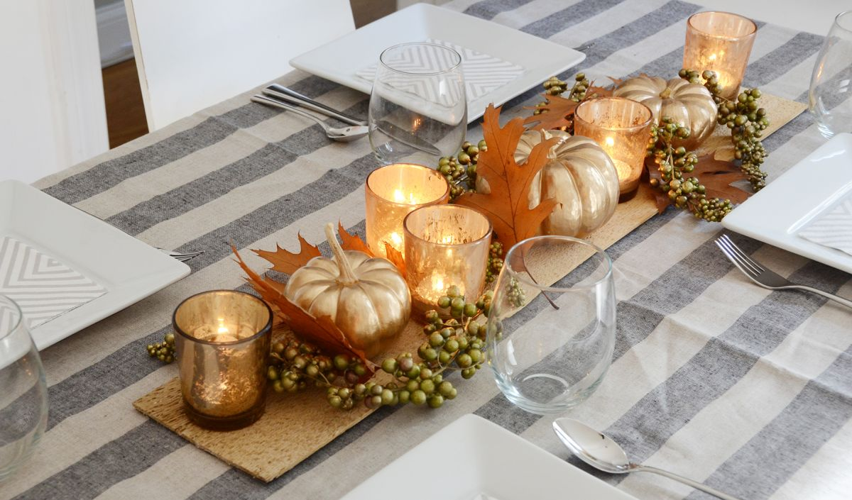 Beautiful diy thanksgiving table centerpiece Thanksgiving table decorations homemade