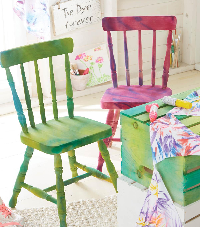 Diy tie dye chairs