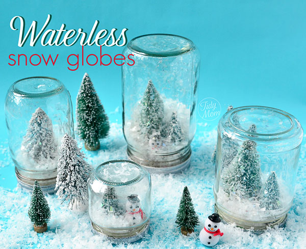 Diy waterless snow globe