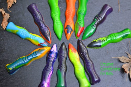 Halloween Witch Fingers Out of Crayons