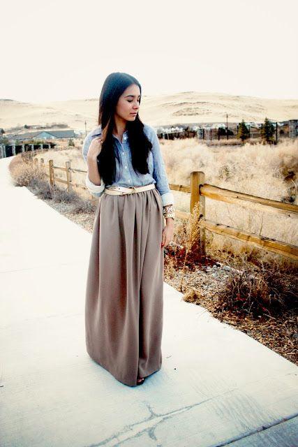 Diy chiffon maxi skirt