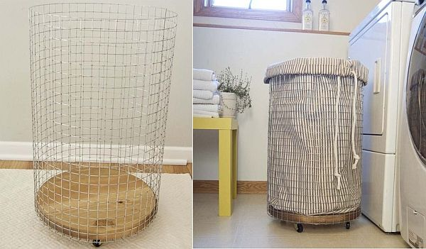 Diy wire laundry basket