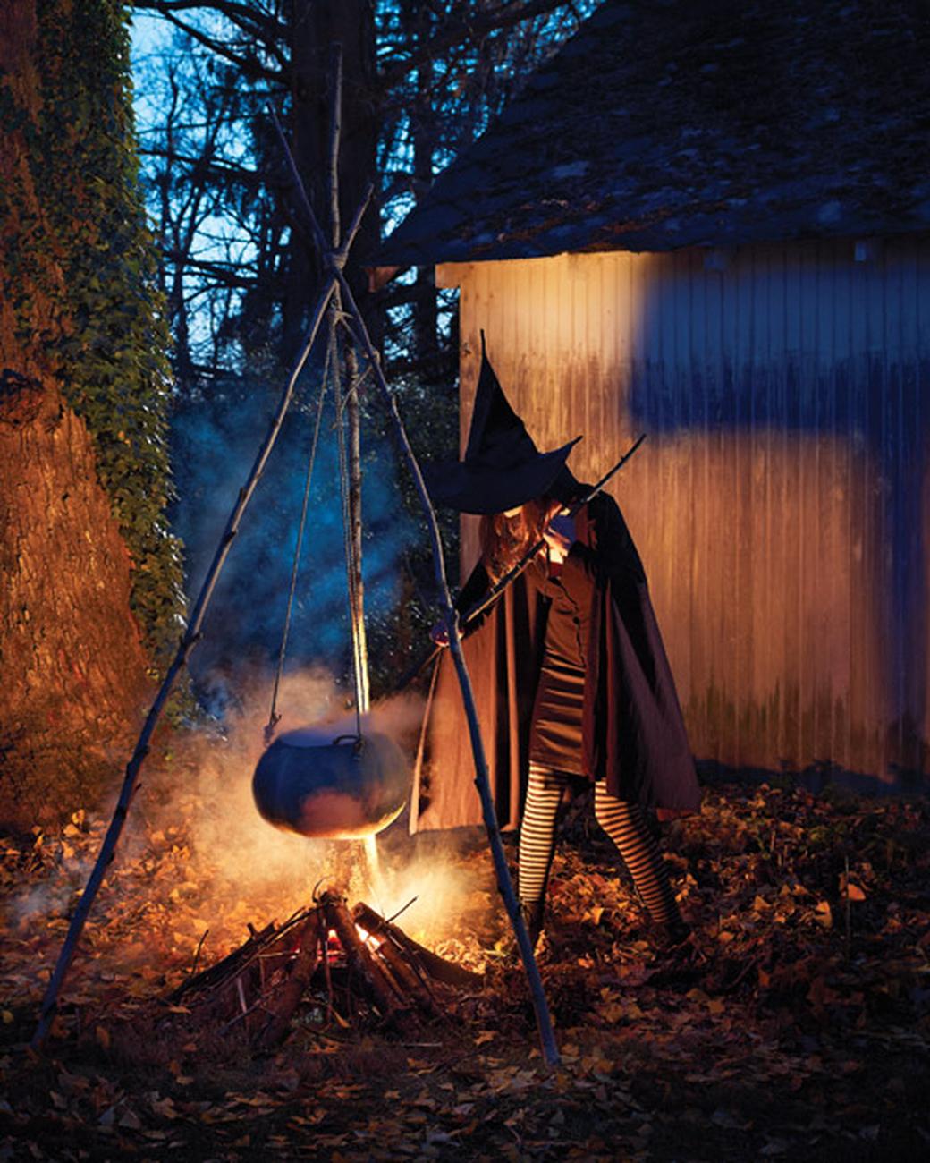 Halloween Witch Cauldron Decor