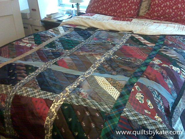 Dad's tie quilt
