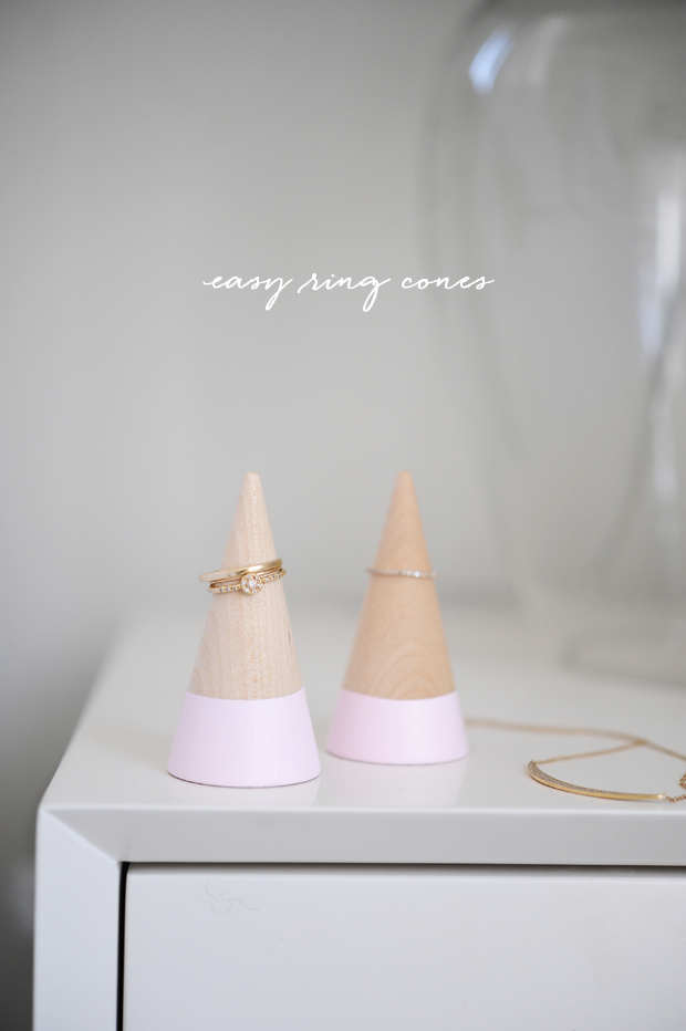 Diy ring cone holders