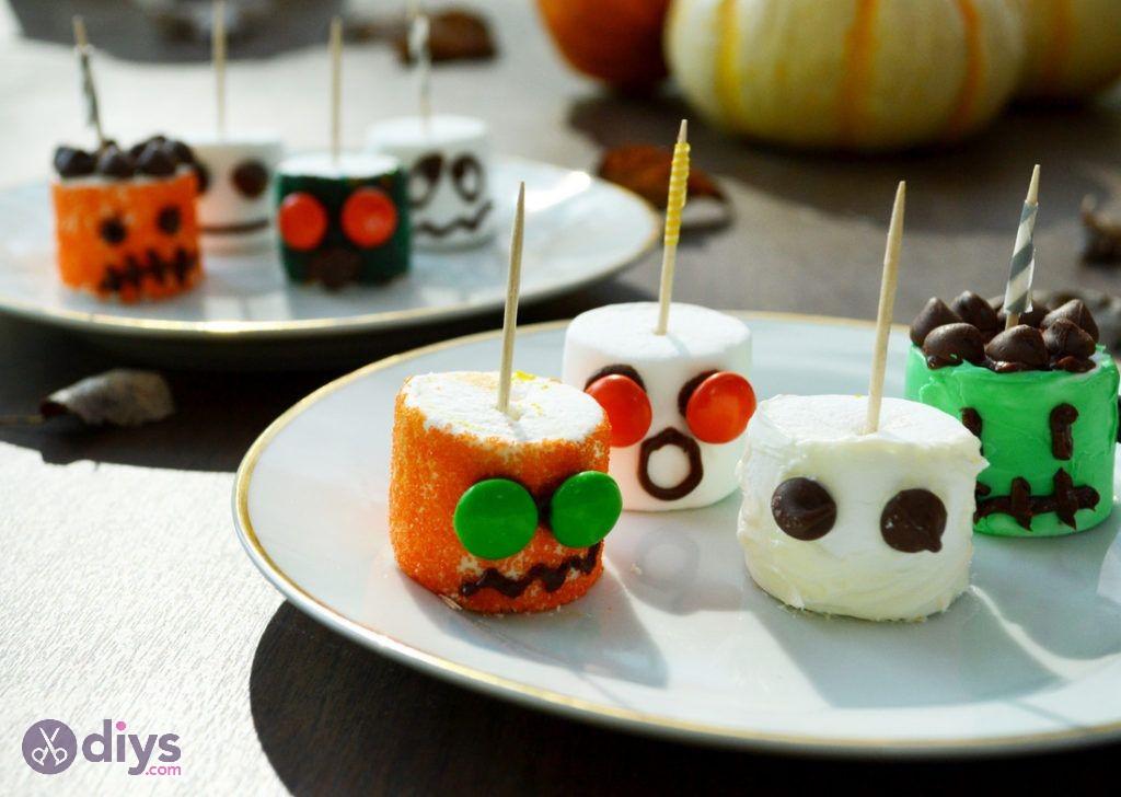 Easy halloween treats marshmallow monsters