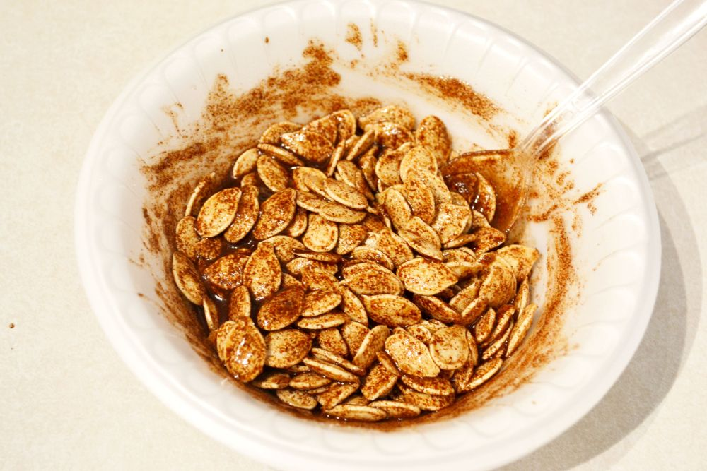 Easy pumpkin seed recipes for fall mixture