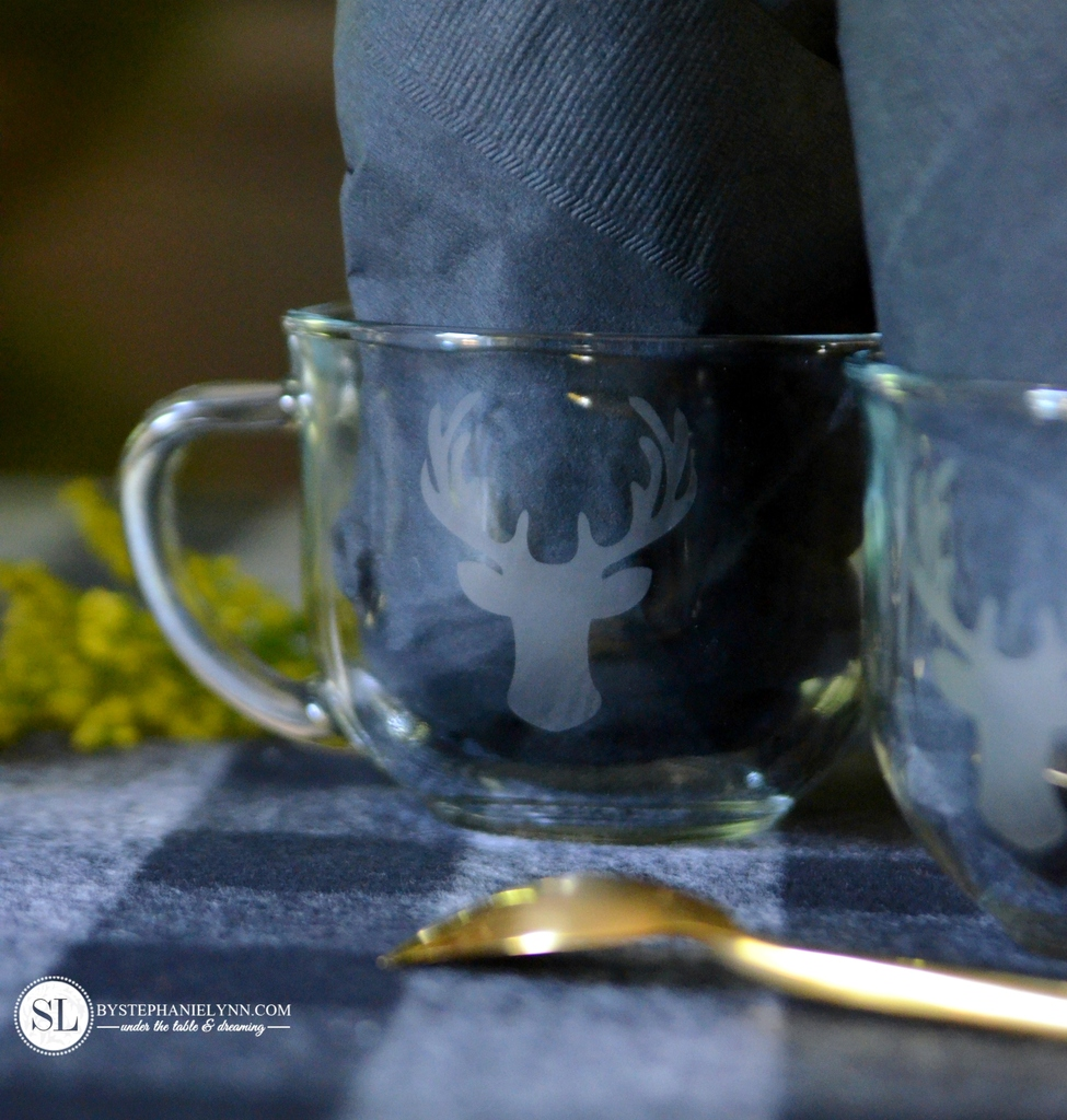Etched coffee mugs diy