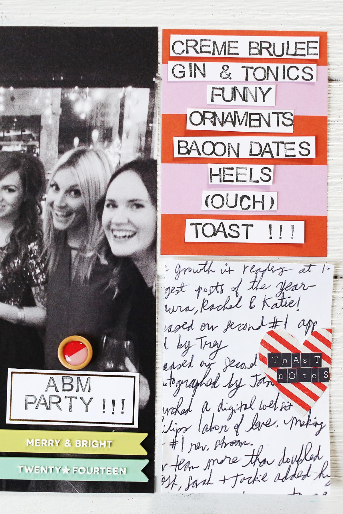 Forgotten party scrapbook