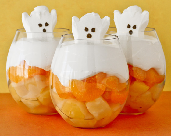 Fun fall fruit cups