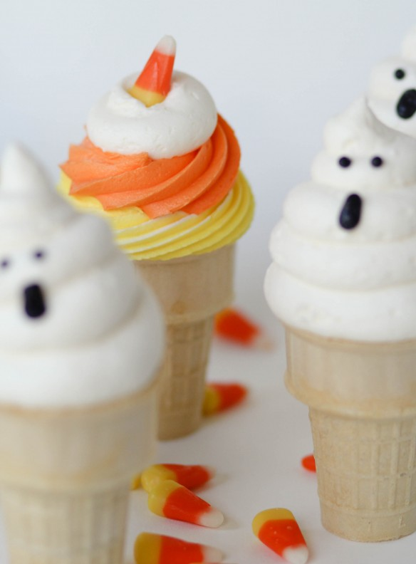 Ghost cupcake cones recipe