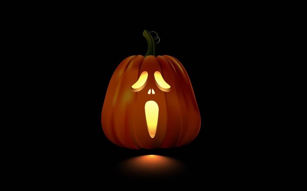 Ghostface pumpkin design