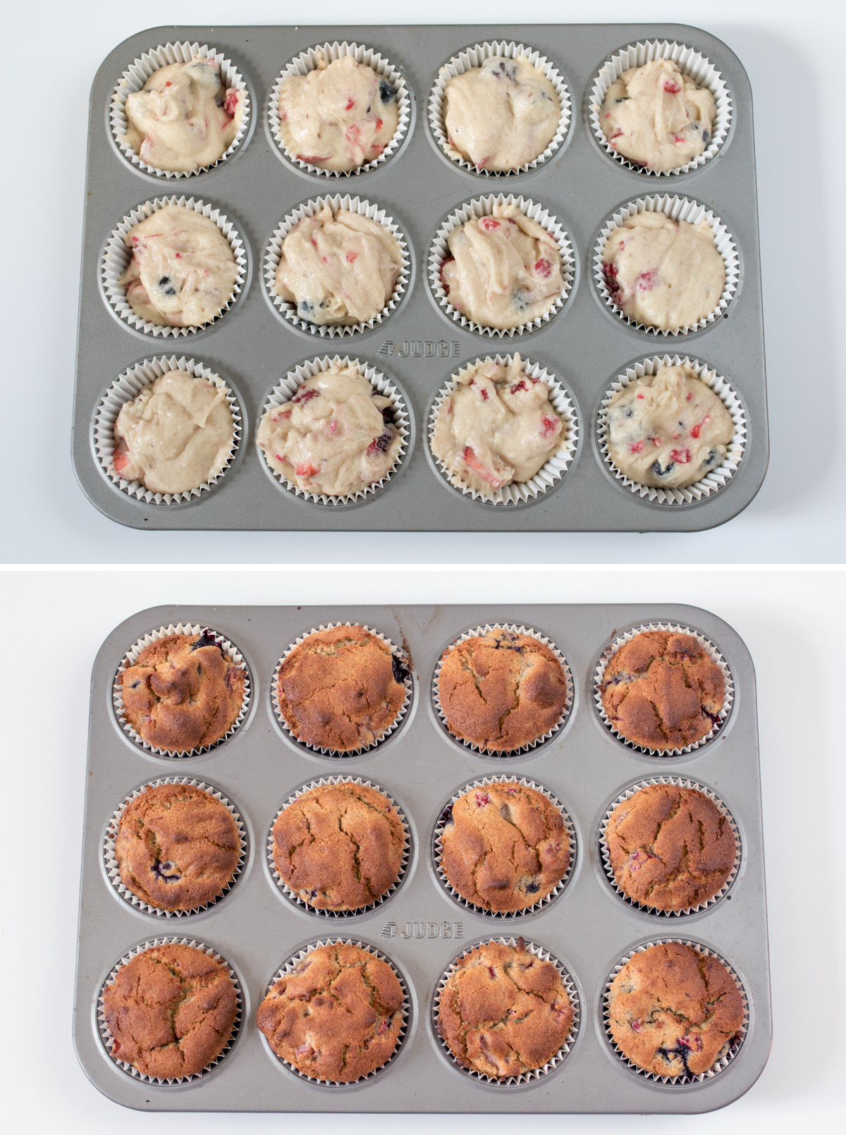 Gluten free berry cupcakes step 4 collage