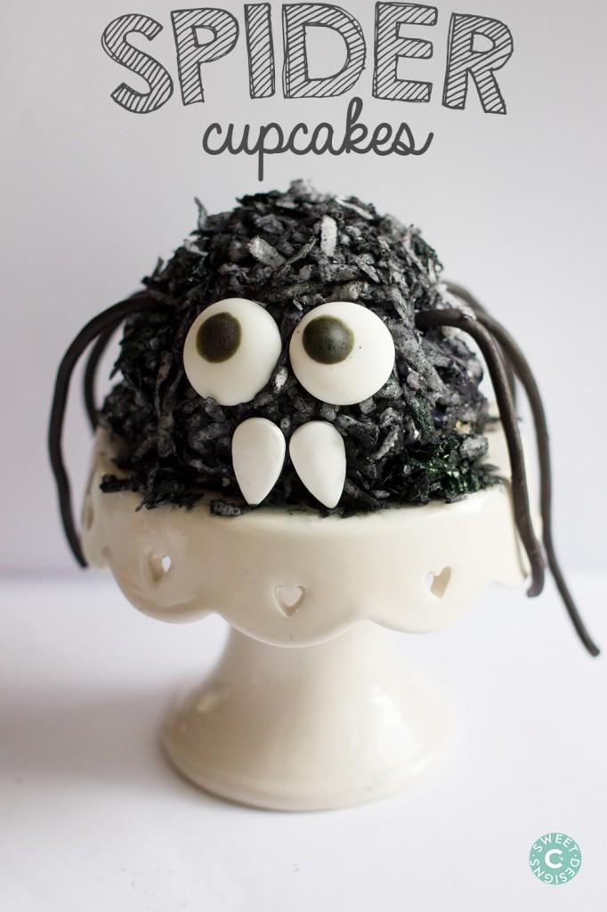 hairy spider cupcakes diy frankenberry rice krispie treats