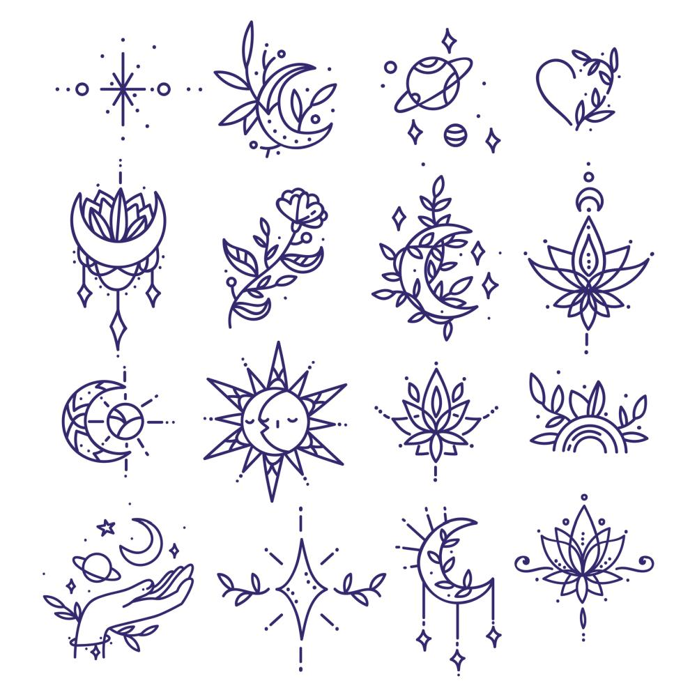 Halloween temporary witch tattoos