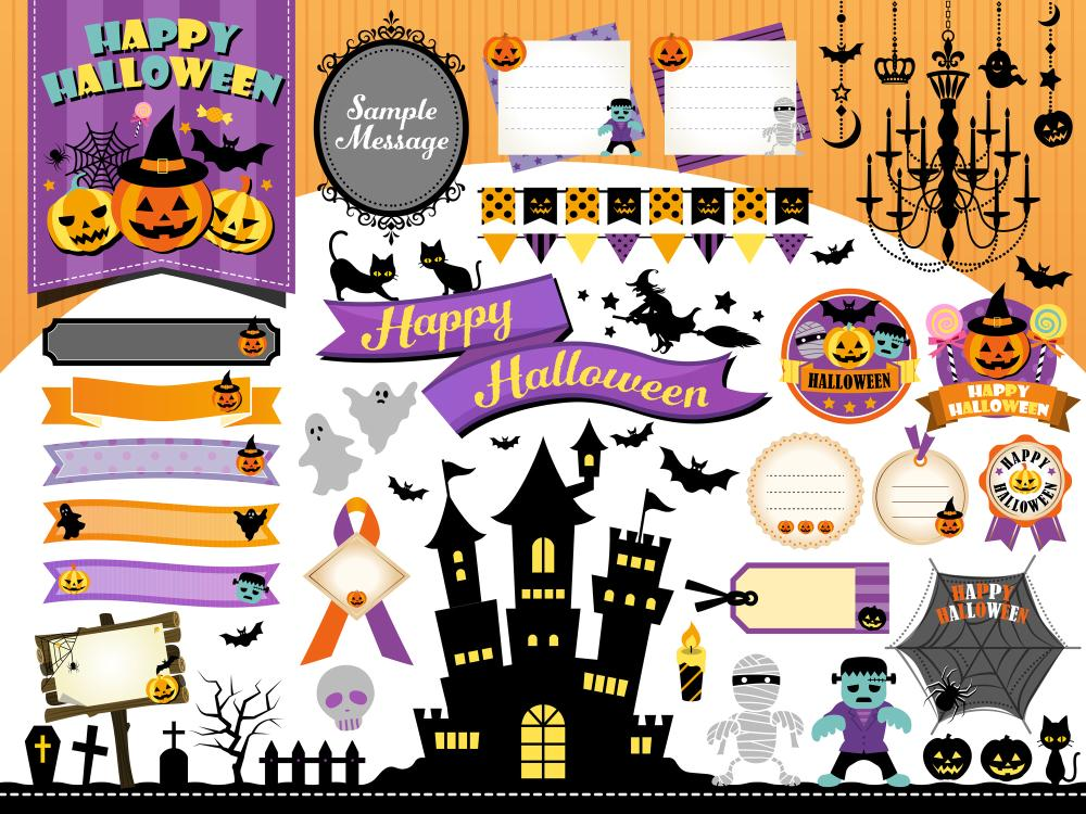 Halloween witch decor wall stickers