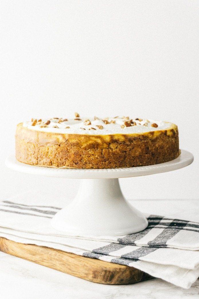 Healthy halloween treats keto pumpkin cheesecake
