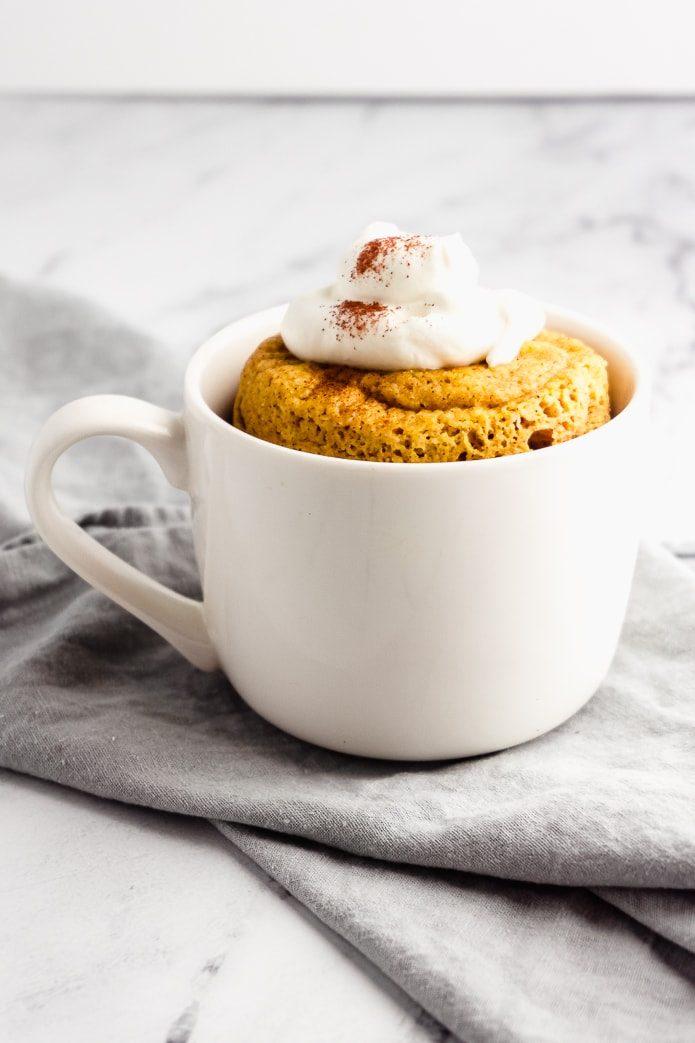 Healthy halloween treats keto pumpkin mug cake
