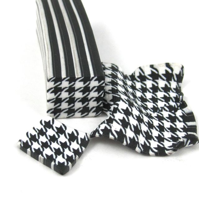 Houndstooth polymer clay cane