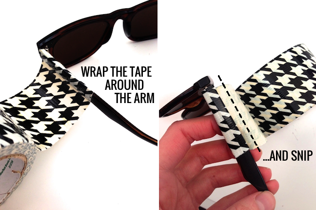 Houndstooth sunglasses using duct tape
