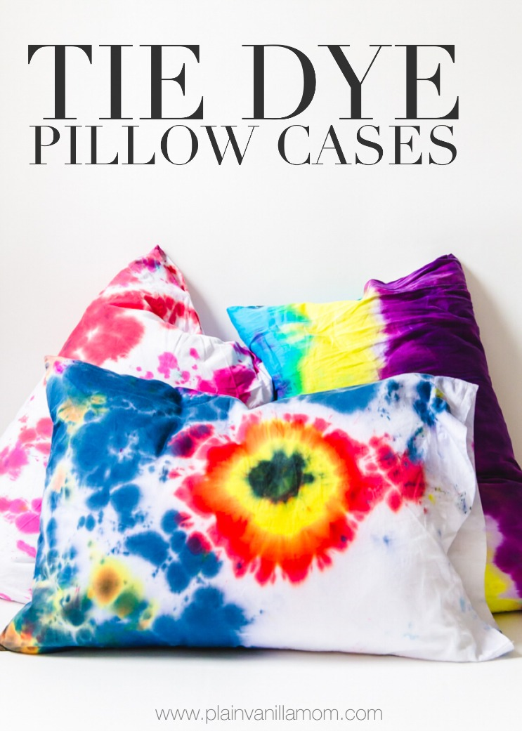 How to make tie dye pillow cases
