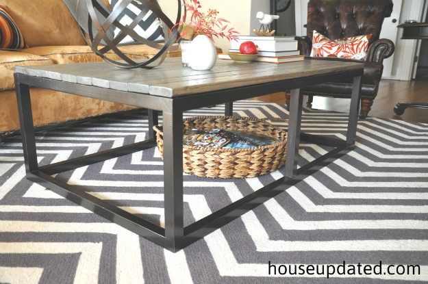 Industrial frame coffee table