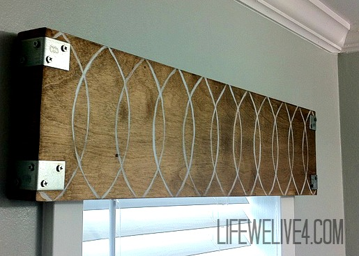 Industrial wooden valance