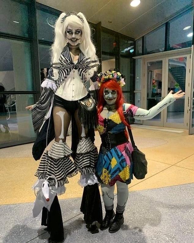 Jack and sally skellington duo halloween costumes