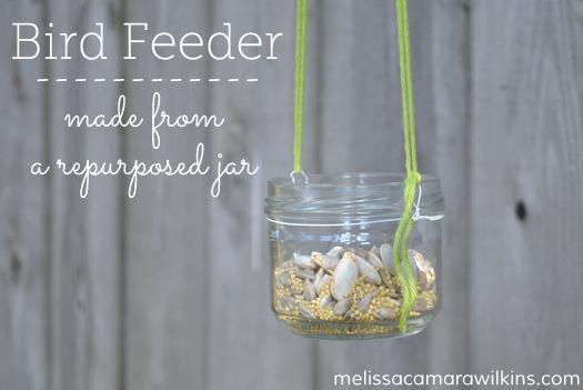 Jar birdfeeder diy