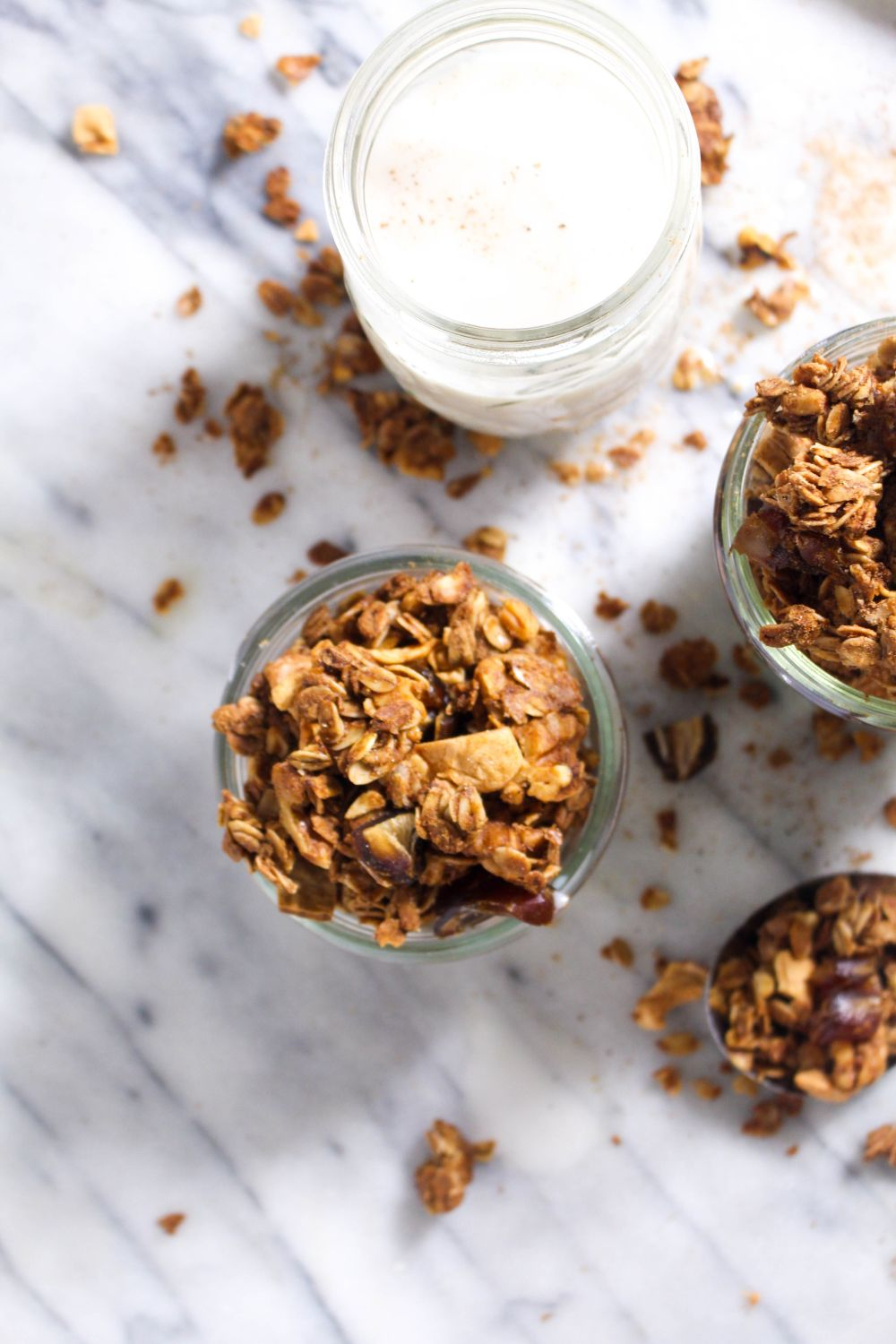 Jar caramel apple granola