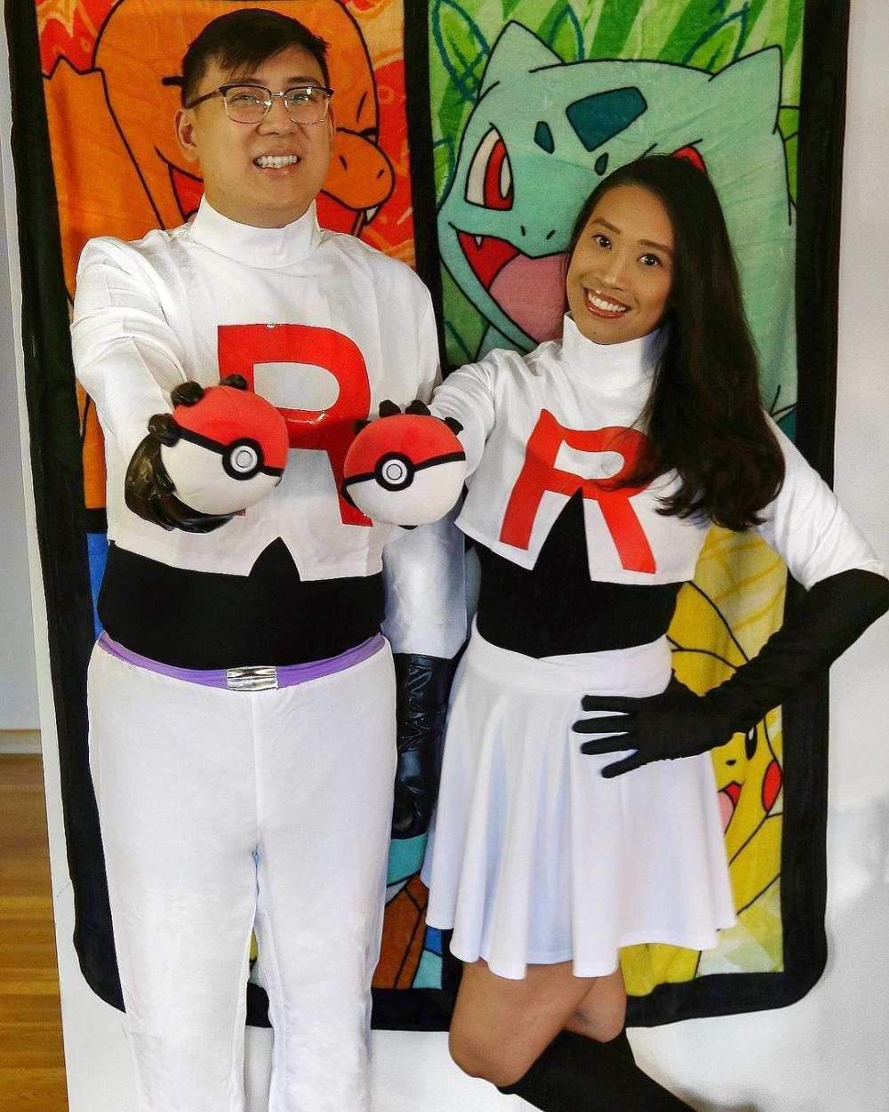Jessie and james from team rocket funny couple halloween costumes