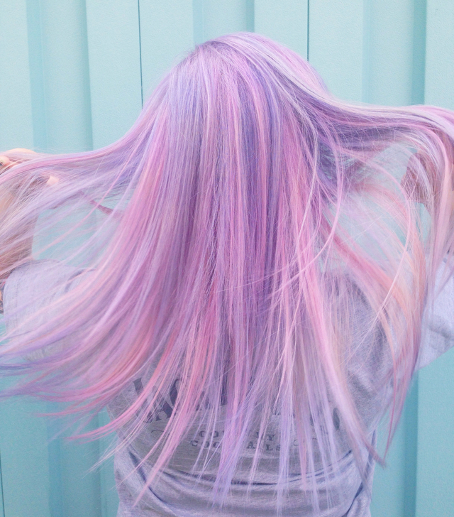 Lavender candy pearlesence hairstyle