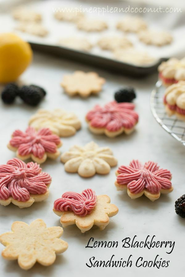 Lemon blackberry spritz sandwich cookies leftoversclub 3