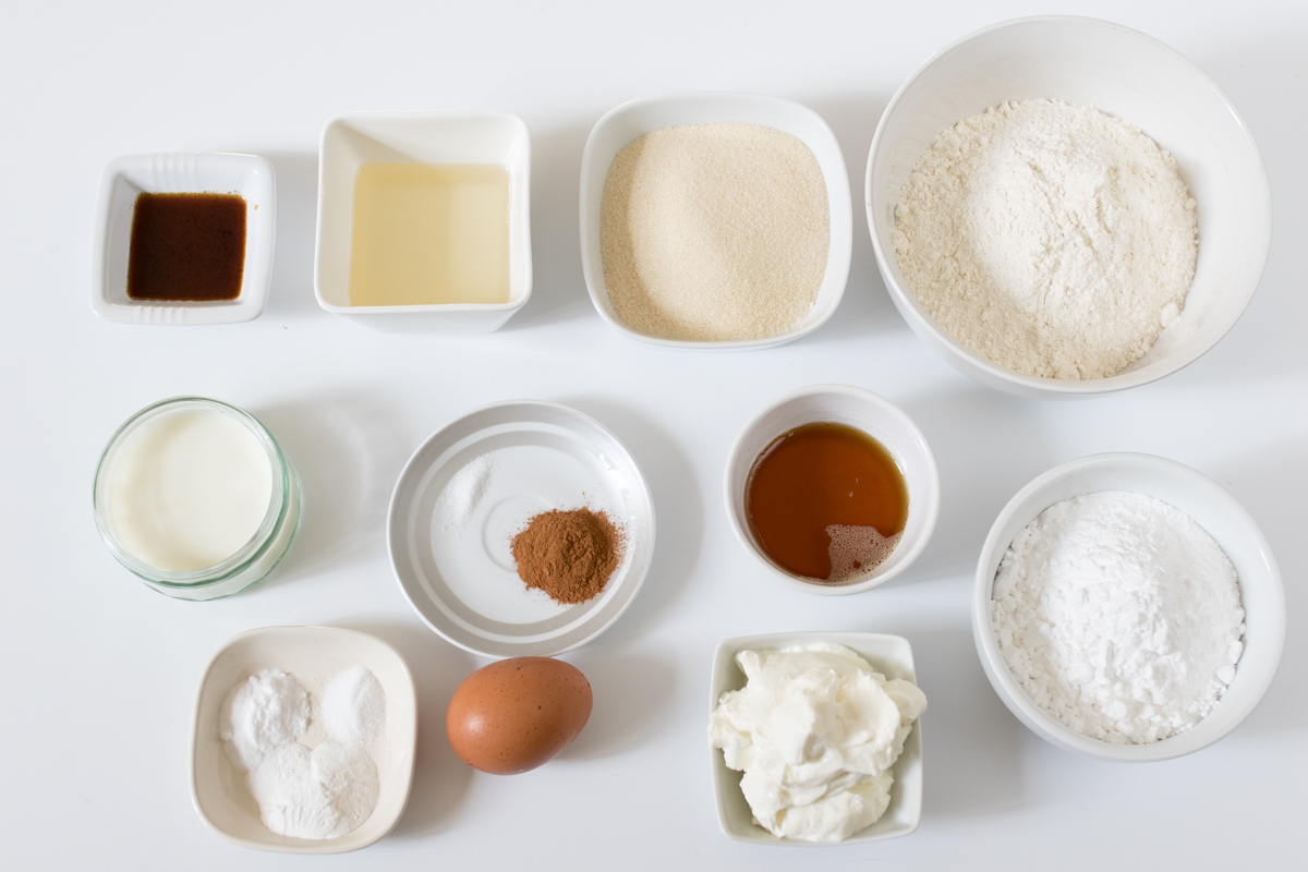 Maple glaze donuts ingredients