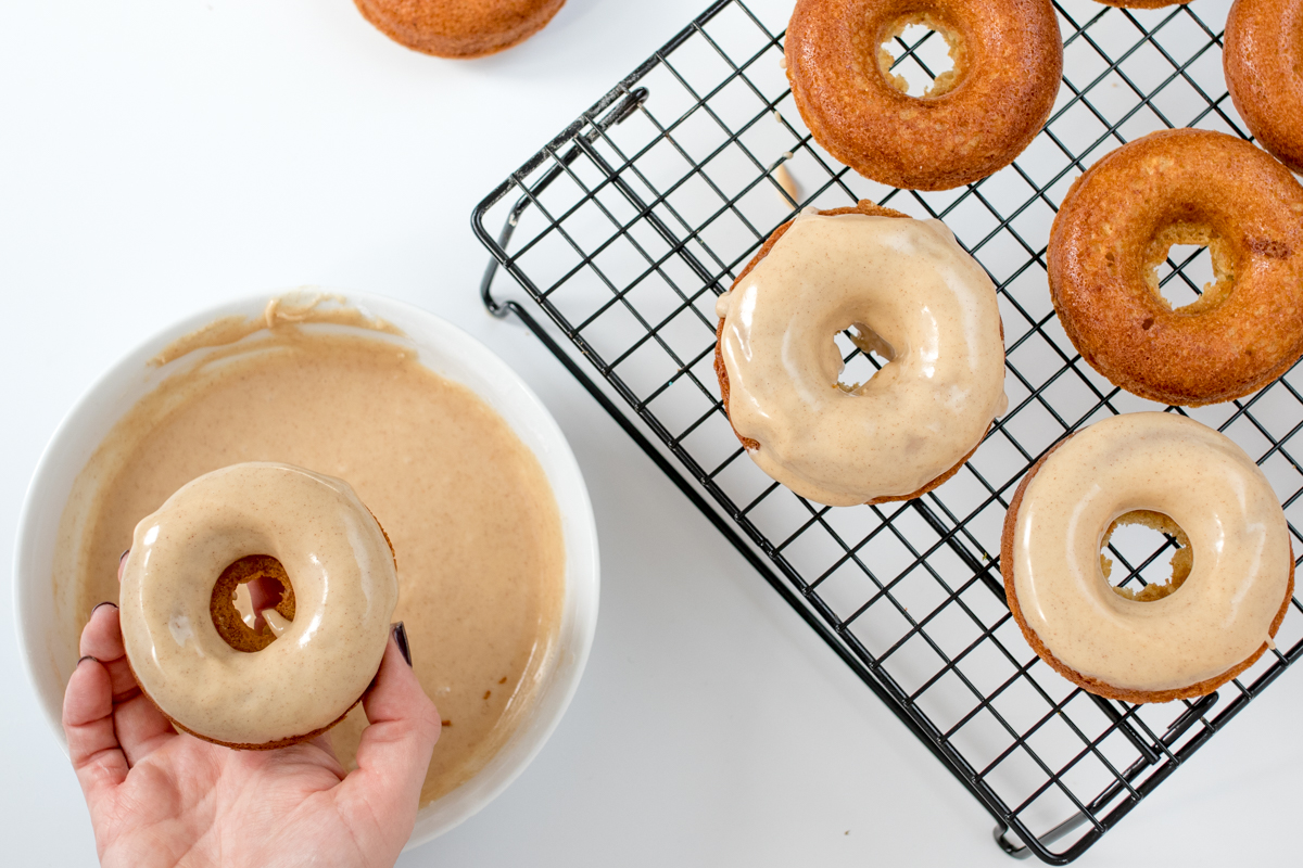 Maple glaze donuts step 4