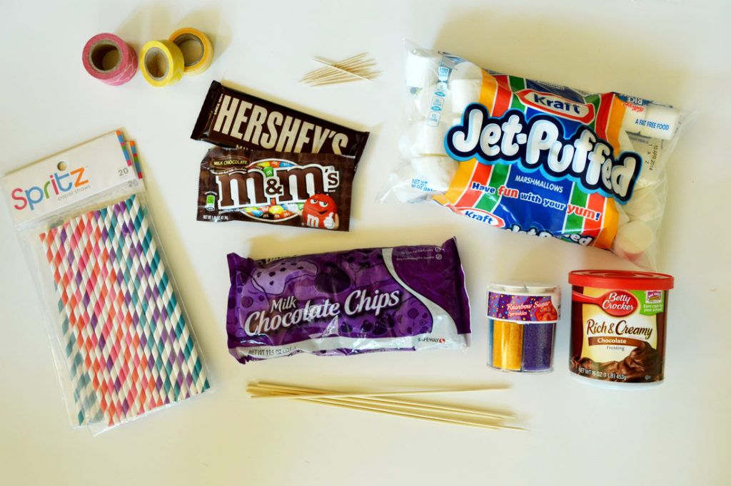 Marshmallow monsters for halloween ingredients