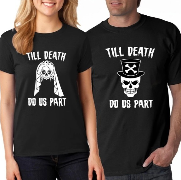 Matching t shirts easy couple halloween costumes