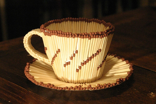 Matchstick Teacup And Saucer