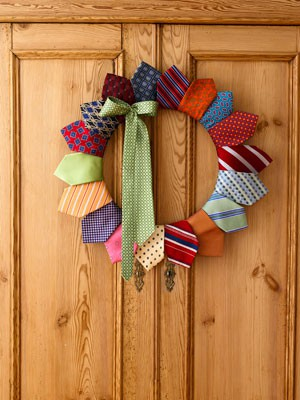 Neck tie door wreath