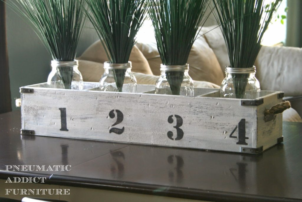 Numbered crate vase