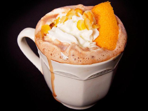 Orange pisco hot chocolate